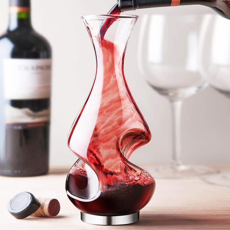 Bình thở rượu vang truyền thống