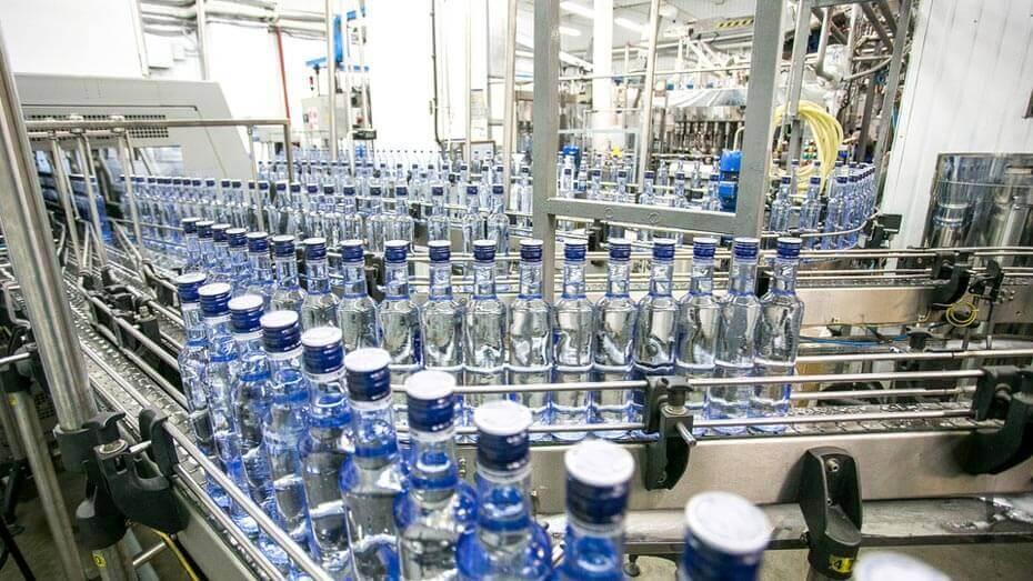 Quy trình sản xuất rượu Smirnoff