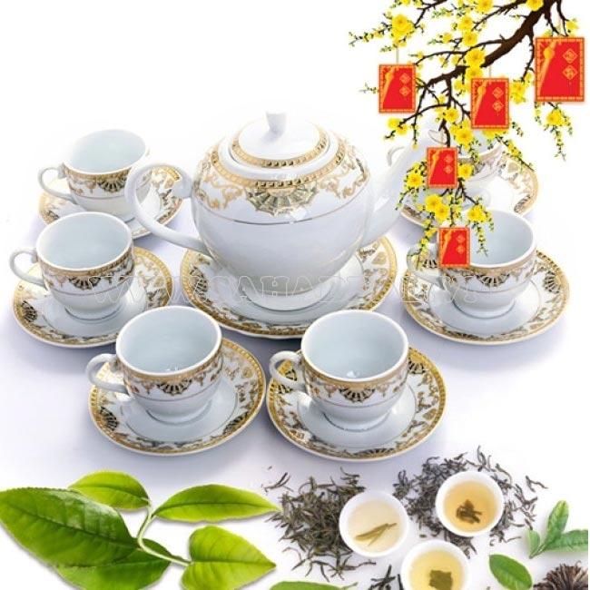 Bộ ấm trà ngày tết