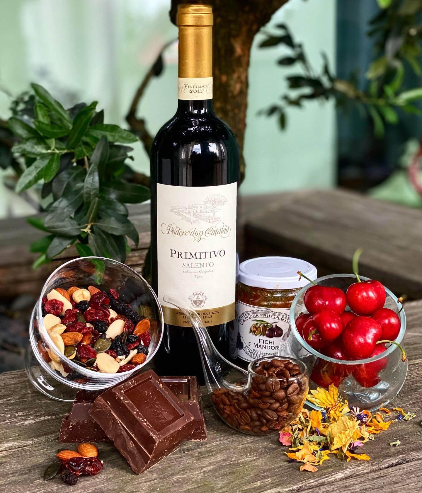 các món ăn phù hợp với rượu vang primitivo