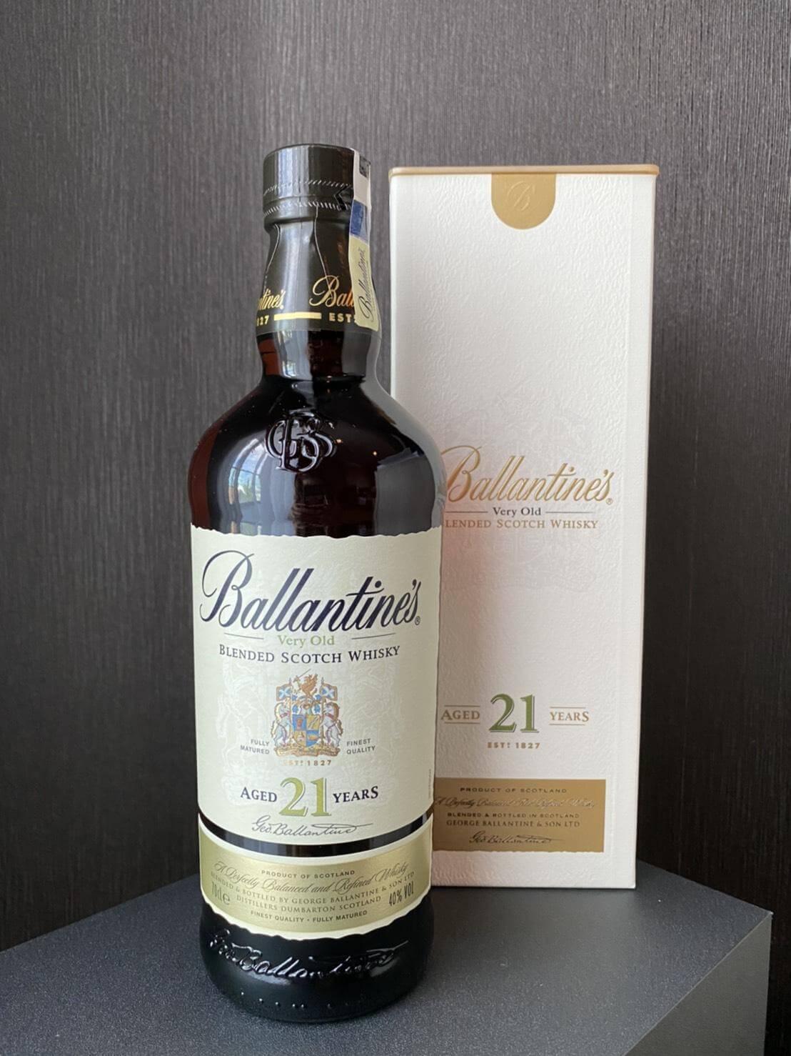 Hương vị đặc biệt của rượu Ballantines 21