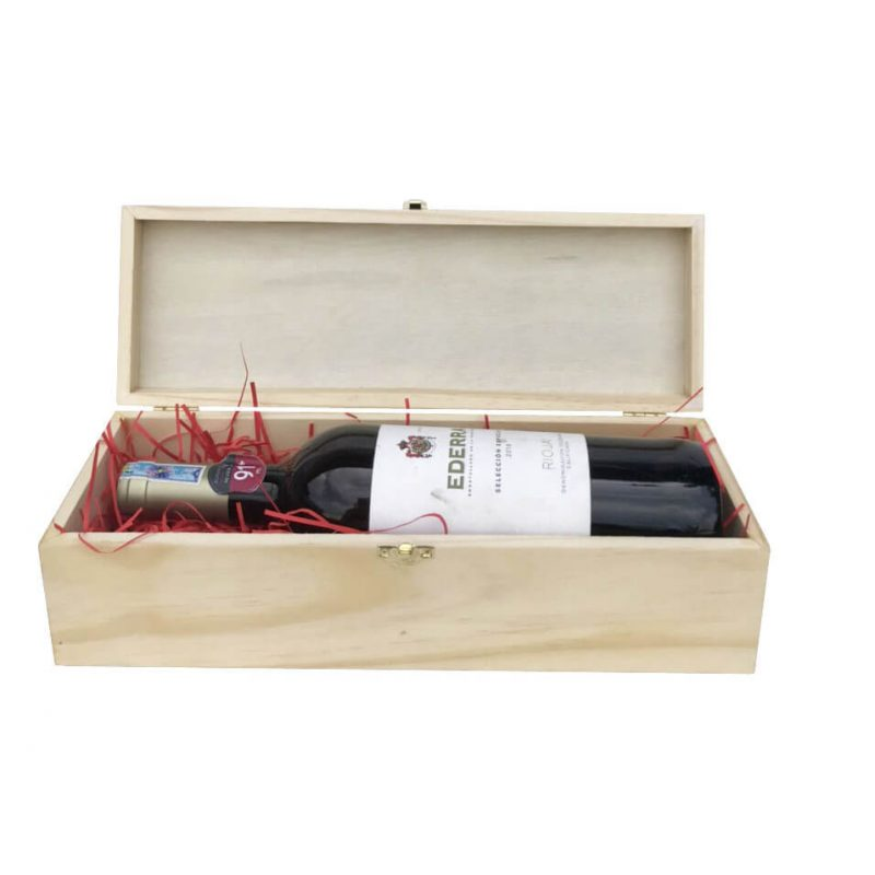 Hộp đựng chai rượu vang bằng gỗ thông