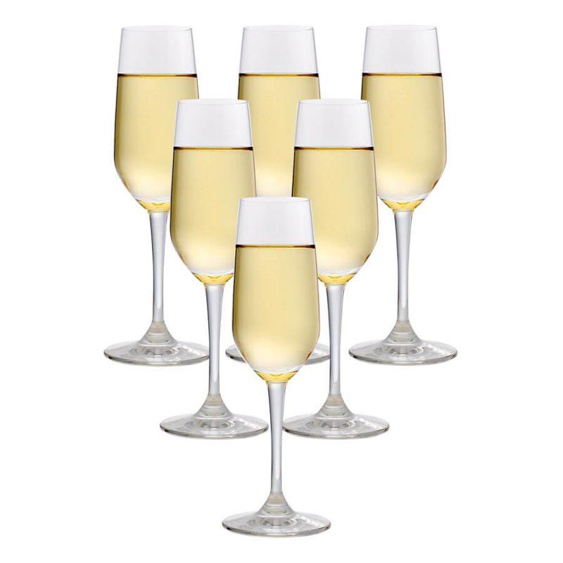 Tìm hiểu chi tiết về ly uống rượu champagne