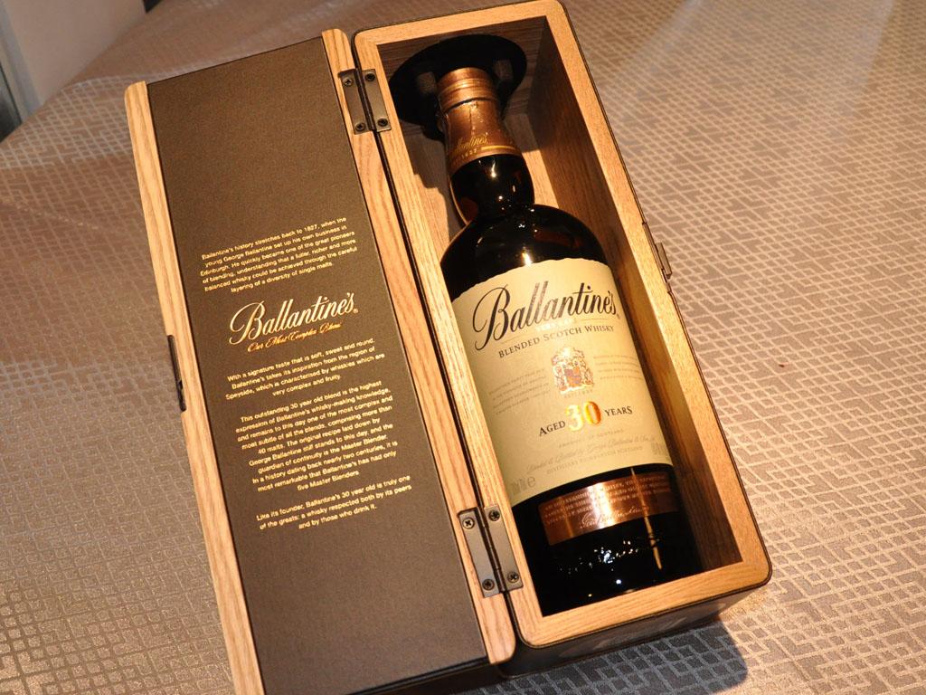 ghi chú,nếm thử và mùi vị của rượu ballantines 30