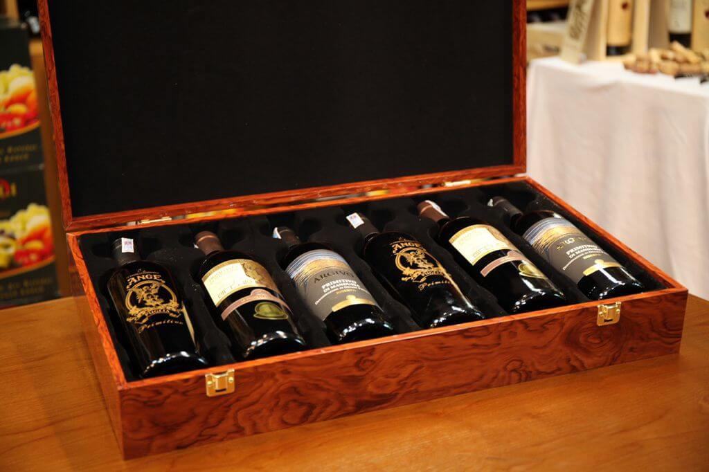 Hộp gỗ đựng rượu 6 chai